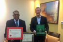 Two Seasons Hotel awarded by Emirates Environmental Group for recycling initiatives