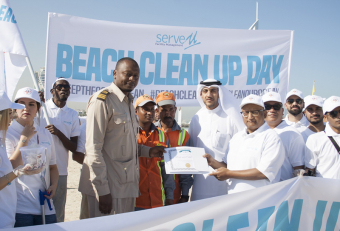 ServeU FM begins CSR campaign with beach clean-up