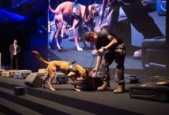 Transguard Group showcases explosive detection dogs and virtual reality solutions at AVSEC