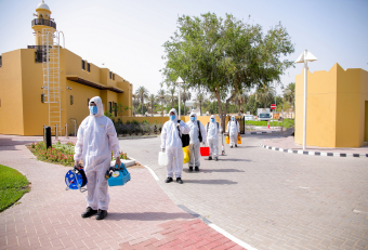 Imdaad subsidiary carries out disinfection services at Dubai Health Authority's Seniors' Happiness Center