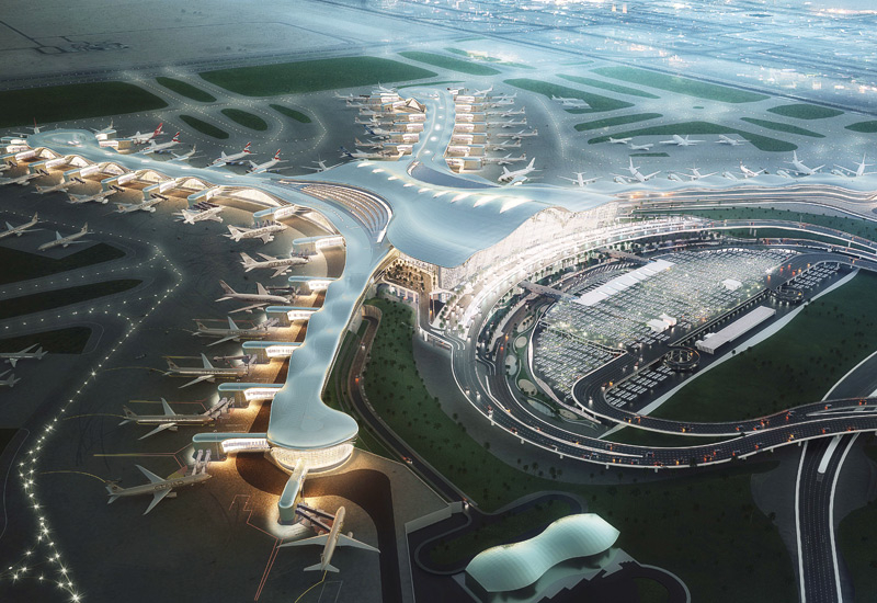 The Midfield Terminal at the Abu Dhabi Airport.