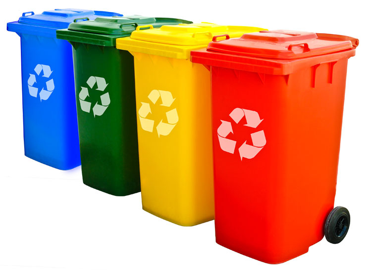 Each container is customized according to the type of waste to be deposited. Phot: Shutterstock.