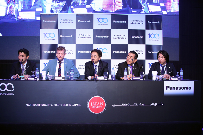 The regional managing director Hiroki Soejima along with members of the Panasonic Marketing Middle East & Africa annual dealers' convention.