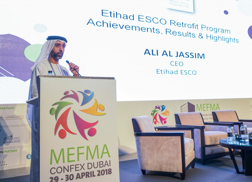Ali Al Jasim at the MEFMA Confex 2018 in Dubai.