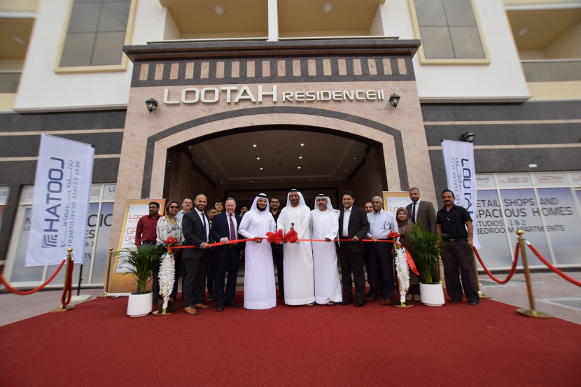 Saleh Abdullah Lootah, executive director of Lootah Real Estate Development along withtop management officials, the architects and consultants behind this project, in addition to various stakeholders.