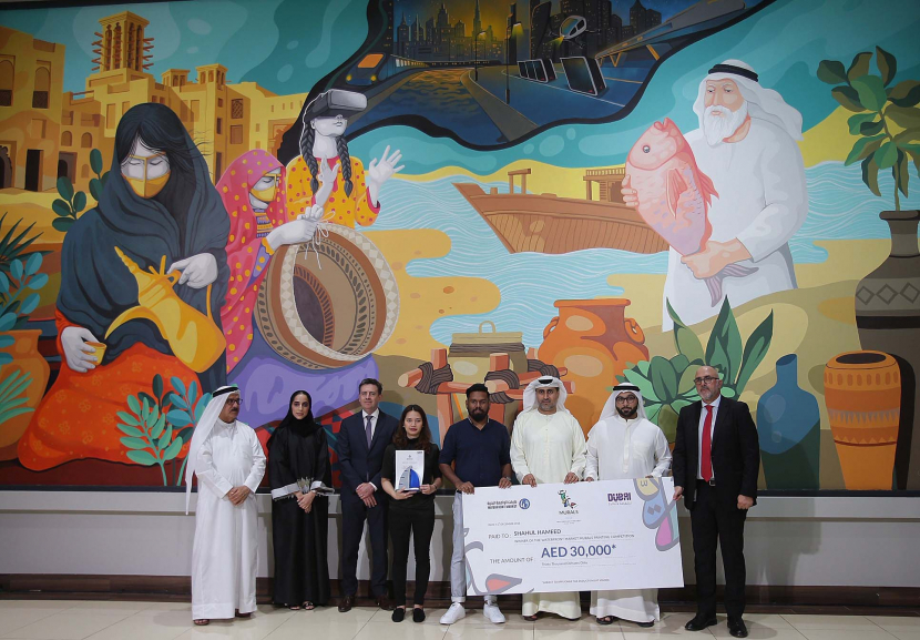 Dubai Waterfront market Deira Ithra, Waterfront market Dubai, Mural painting competition WFM, Painting in the UAE