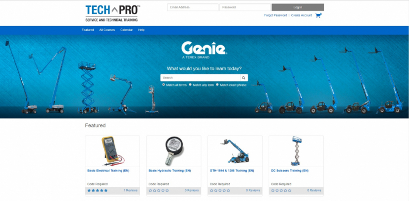 Genie's new platform for technicians.