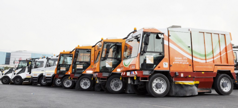 DM also deployed an army of vehicles for waste removal.