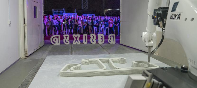 Besix 3D concrete, Besix 3d printing, Besix Sika Witteveen & Boss, Sika Dubai, Sika 3d printing, Witteveen & Boss 3d printing DUbai