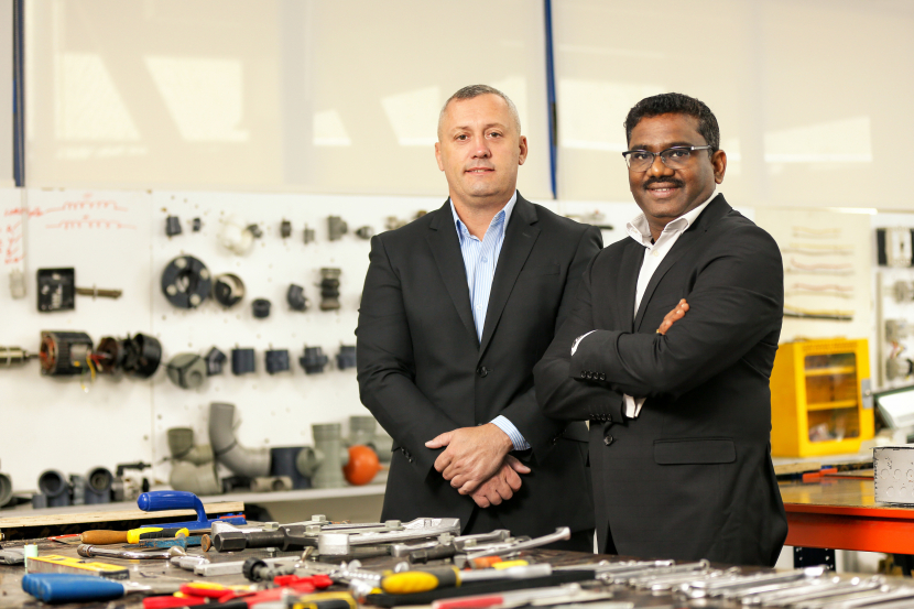 L to R: Stuart Harrison, Emrill's CEO and Gopalakrishnan, operations director
